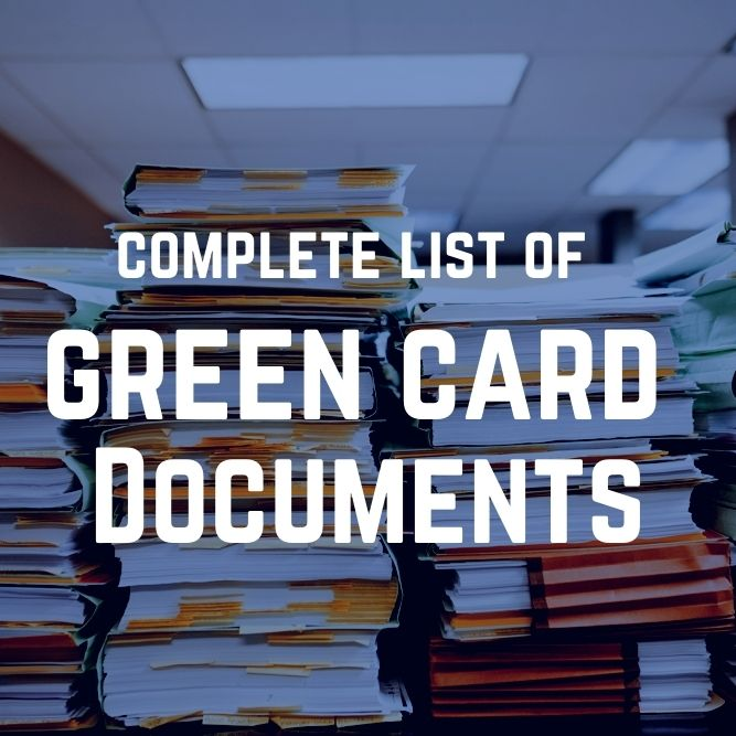 list of documents for green card through marriage